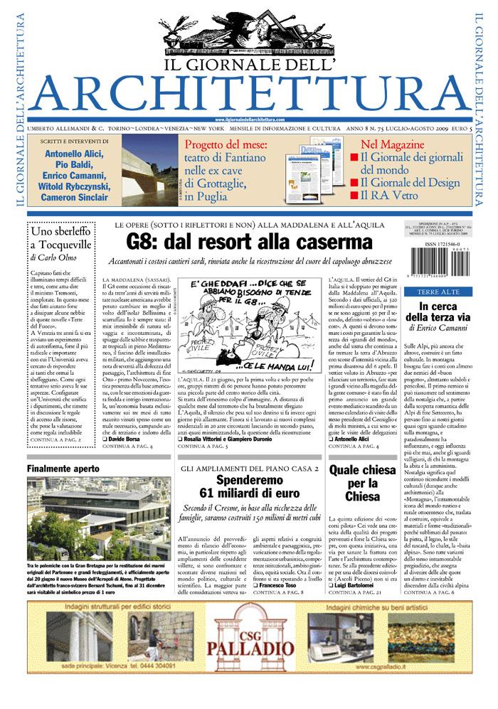 Il giornale dell architettura made associati for Giornale architettura
